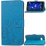 HTC U12Plus Wallet Stand Case, Knurling Flower Grass