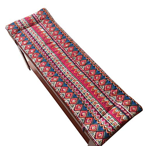 Xiaoyan - Cojín de banco de jardín, 2 o 3 plazas, almohadilla de asiento de madera suave y gruesa, 2 cm de grosor, lavable, ultra cómodo y duradero