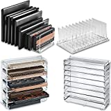 byAlegory Set Of (2) Acrylic Organizers - (1) Medium & (1) Universal Sized Eyeshadow Palette Makeup Organizer w/Removable Dividers - Clear
