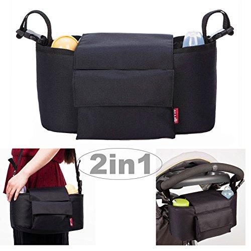 Allis 2-in-1-Wickeltasche, mit Gurten zur Befestigung am Kinderwagen