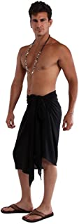 1 World Sarongs Mens Solid Color Fringeless(TM) Sarong