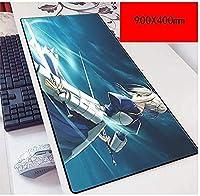 マウスパッド永遠の900X400mmマウスパッド、スピードゲームマウスパッド拡張XXL大型マウスマット、厚さ3mmのベースノートブックPC E