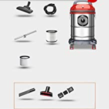HW Hard Word Vacuum Cleaner - Stainless Steel Multi-Layer Vacuum Filter 15L - 18L Small high Power Household Industrial Vacuum Cleaner, Vacuum Cleaners (Color : 15L)