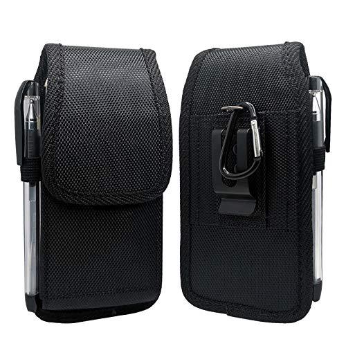 Funda de teléfono celular para iPhone Mini (5.4), SE2020, 8, 7, 6, 6s, funda de transporte de teléfono con clip de cinturón de nailon resistente con soporte para tarjeta