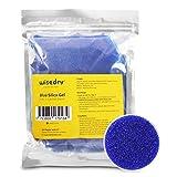Perlas desecantes de gel de sílice wisedry reactivables (545 g) con indicación de color (azul a rosa), tamaño de 2-4 mm