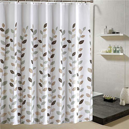 Yuuwo douchegordijn, bedrukt, polyester, Moldproof met ophangsysteem van kunststof, 180 x 200 cm