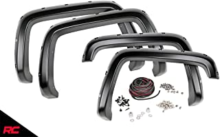 Rough Country Pocket Fender Flares Compatible w/ 2015-2020 Chevy Colorado 6 FT Bed Flat Black Rivet Sytle F-C11512