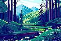 大人のための古典的なパズルジグソーパズル子供のための1000ピースの大きなパズル高品位の木で作られた森のアニメーション