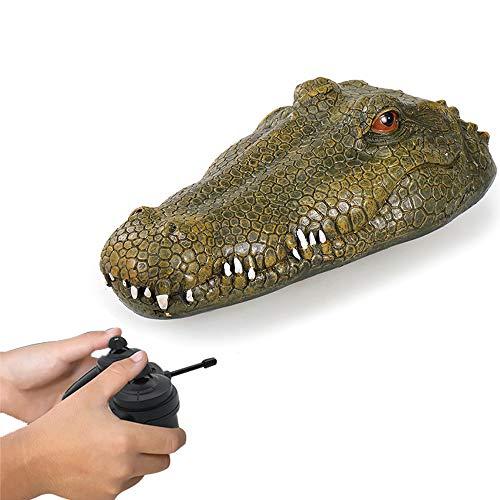 Goolsky Neuer Sich hin und herbewegender Krokodilkopf Flytec V002 RC Boat Elektro Rennboot mit Fernbedienung für Schwimmbäder mit Simulation Crocodile Head Spoof Toy*
