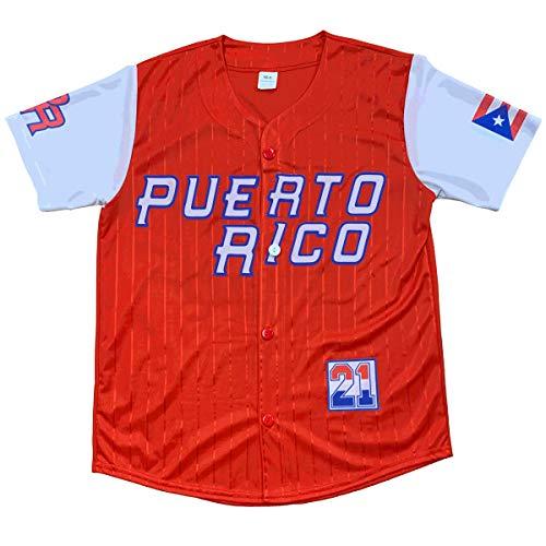 Jersey Baseball Puerto Rico Red (S-M)