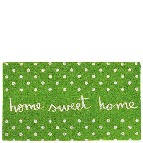 Laroom Felpudo Sweet Home Verde, Green, 40x70xH1,8cm