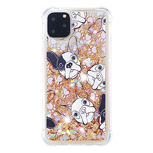 Cute Quicksand Phone Case for Apple iPhone 11 Pro Max,Soft TPU Bumper French Bulldog Phone Case for Apple iPhone 11 Pro Max