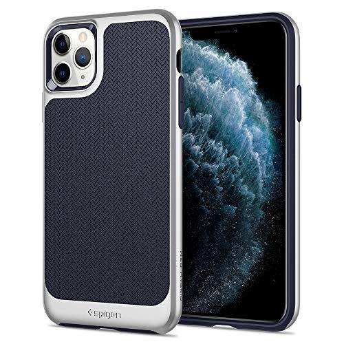"""Spigen Neo Hybrid Funda iPhone 11 Pro con Protección Flexible de diseño en Espiga y Cuadro de Parachoques Duro Reforzado, Compatible con Apple iPhone XI Pro (5.8"""") 2019 - Satin Silver"""