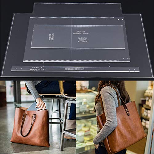 NW AAB-118 Women Bucket Bag Acrylic Template Leather Pattern Handbag Acrylic Leather Pattern Leather Templates for Tote Bag