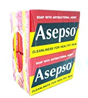 4x Asepso Soap with Antibacterial Agent Cleanliness for Healthy Skin Original Made in Thailand by Asepso [並行輸入品]