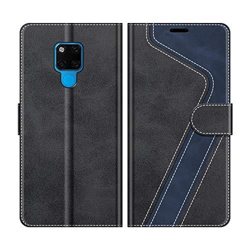 MOBESV Handyhülle für Huawei Mate 20 X Hülle Leder, Huawei Mate20 X Klapphülle Handytasche Hülle für Huawei Mate 20 X 5G / Huawei Mate20 X Handy Hüllen, Modisch Schwarz