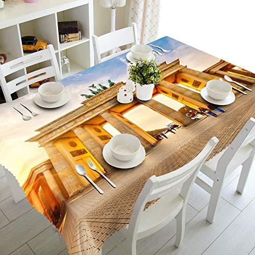 Zmuyu tafelkleed, brandweer, glanzend, 3D-deur, wasbaar, rechthoekig, van dik katoen, stofdicht