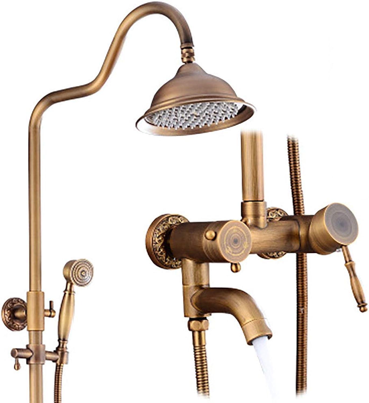 Shower Set, Bathroom, Three-Way Shower, redating Lift, Antique Shower, Shower-gold4