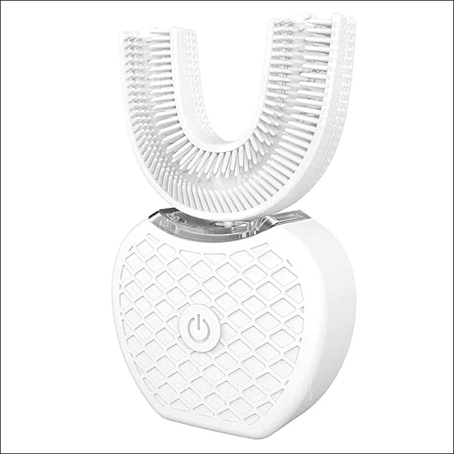 リスそして中央値[(Gearbest) Gearbest] [Auto 360-degree U-shape Electric Toothbrush Sonic Mouth Cleaner] (並行輸入品)
