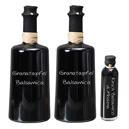 Wajos Granatapfel Crema Balsamico NUR SANFTE 3 % Säure! 2 x 250 ml I Sparset GRATIS dazu Oliv & Co. Kirsch Balsamico di Modena 40ml