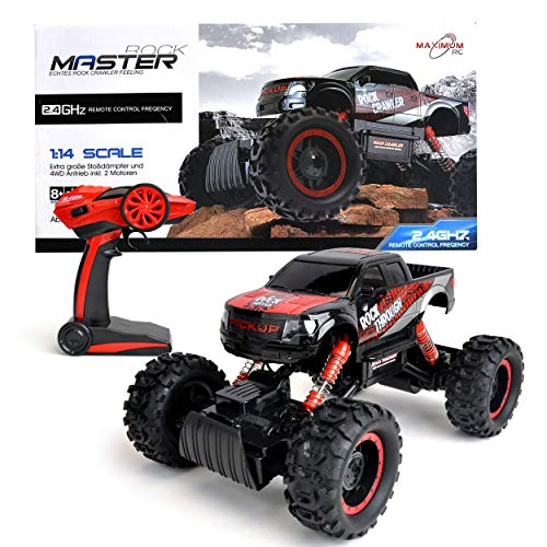 Maximum RC Ferngesteuertes Auto für Kinder - 4WD Monstertruck - XL RC Auto für Kinder ab 8 Jahren - Rock Crawler (rot)*