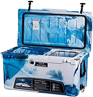 75QT CAMO Ocean Blue Cold Bastard Rugged Series ICE Chest Cooler Free Accessories Free S&H
