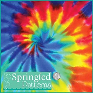 TIE DYE PATTERN #1 Craft Vinyl 3 Sheets 12x12 for Vinyl Cutters