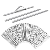 Veiai Aluminum Nose Bridge for Mask, 90MM Metal Adhesive Nose Strips Wire Flat Nose Clips for DIY Mask Making Accessories(Aluminum strip-100pcs)