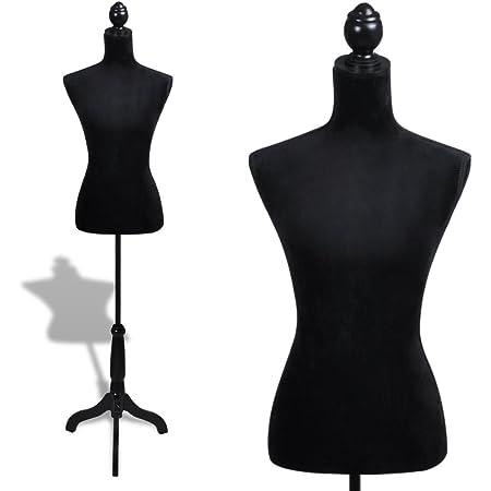 Festnight- Busto Sartoriale Donna/Sartoriale Regolabile Nero manichino Femminile