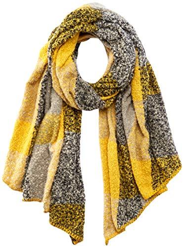 ONLY Damen ONLLIMA Scarf NOOS Schal, Grau (Light Grey Melange Detail: Check Golden Spice), (Herstellergröße: One Size)