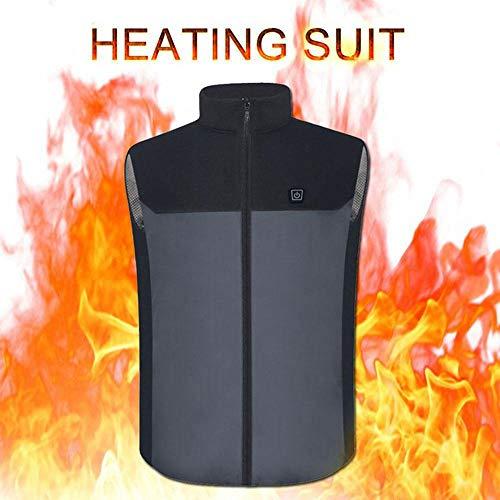 Langyinh Verwarmd vest, USB-berekening, elektrisch verwarmingsjack, warm vest, gemakkelijk wasbaar, perfect voor outdoor, camping, wandelen, jagen, uniseks