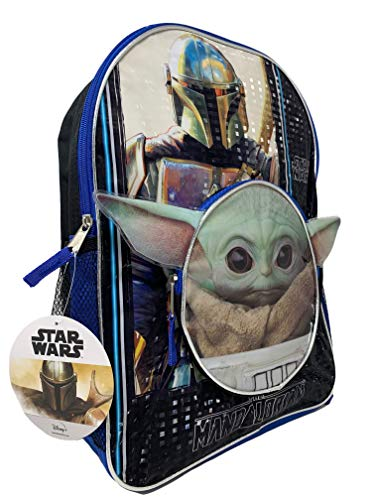 Star Wars The Child  Baby Yoda 16  Backpack with Head Shaped Front Pocket