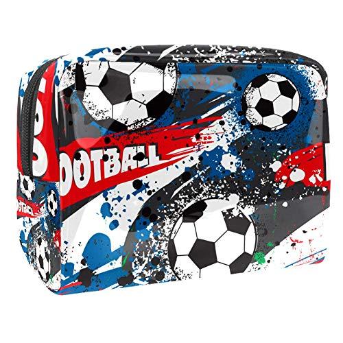 Trousse de maquillage multifonction pour les produits de toilette de voyage - Pour femme - Football - Graffiti Art