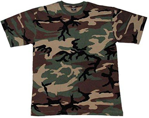 US/BW T-Shirt, klassisches Armee-T-Shirt, in 13 Auswahl, in den Größen S-3XL Farbe Woodland Größe S