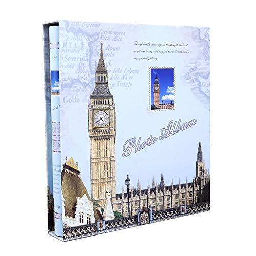 LuoMei Álbum de Fotos Familiares de Estilo Intersticial, Álbum Conmemorativo, Álbum de Fotos de Plástico de Gran Capacidad, Álbum Conmemorativo de Viajes de Amor, Big Ben de Londres