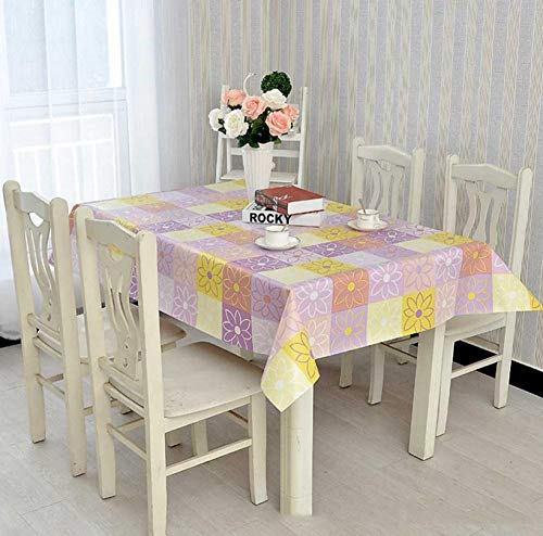 ggzgyz Jardín Mantel PVC Mantel Impermeable Rodillo de presión Personalidad Flor para Restaurante Hotel Fiesta Comedor decoración