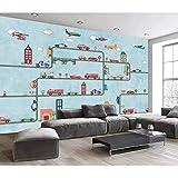 Fototapete für Wände Kino Hintergrund große Cartoon Auto Kinderzimmer Wand Papierrolle 208x146cm