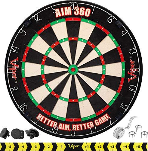 Viper AIM 360 Tournament Bristle Steel Tip Dartboard Set with Staple-Free Razor...