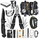 Gifts for Men Dad, Survival Gear and Equipment 17 in 1, Emergency Survival Kit Fishing Hunting Birthday Gifts Ideas for Boyfriend Teen, Cool Gadget Stocking Stuffer for Camping