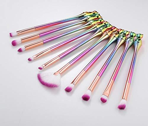 Llxhg 10 Pcs Chat Maquillage Brosse Ensemble Eyeliner Pinceaux Ombre À Paupières Ensemble Professionnel Make Up Tool Set Kits