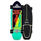 Carver skateboard Arce Tabla Completa 78×24cm Cruiser Boards, Rodamientos de Bolas ABEC-11 Alta velicidad, Tablero de arce de 7 capas, para Adolescentes Principiantes Niñas Niños Adultos, VOMI, B