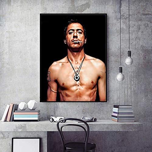 KWzEQ Stahl Filmstar Poster Ölgemälde Wandbild Wohnzimmer Home Decoration Poster und Druck,Rahmenlose Malerei,30X45cm