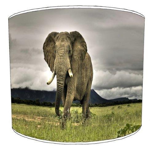 Premier Lampenschirme - Durchmesser 30cm Deckenlampe Afrikanischer Elefant Kinderlampenschirme