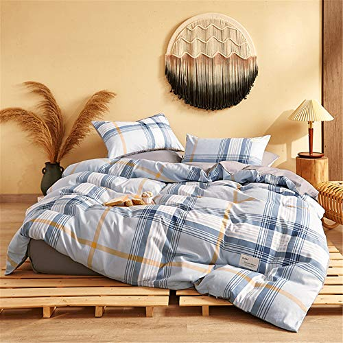 Juego De Ropa De Cama De 4 Piezas Textiles para El Hogarfunda Nórdica Sábana Funda De Almohada Simple Atmosférico Y Fácil De Limpiar 150x200cm