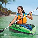 Intex Challenger K1 1-Person Inflatable Sporty Kayak w/Oars and Pump (2 Pack)