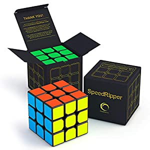 SpeedRipper Cube: Perfect for International Speed Cube Competitions - Buttery Smooth Turning - Solid & Durable, Best 3x3 Magic Puzzle - Turns Quicker Than Original by Creativeline