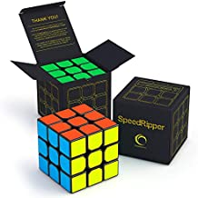 SpeedRipper Cube: Perfect for International Speed Cube Competitions - Buttery Smooth Turning - Solid & Durable, Best 3x3 Magic Puzzle - Turns Quicker Than Original