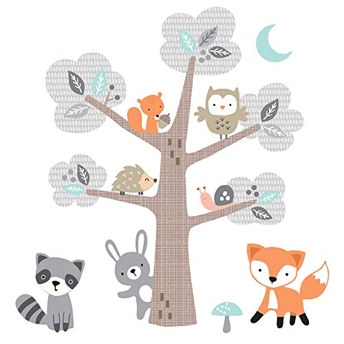 Bedtime Originals Woodland Friends - Adhesivos decorativos para pared, multicolor