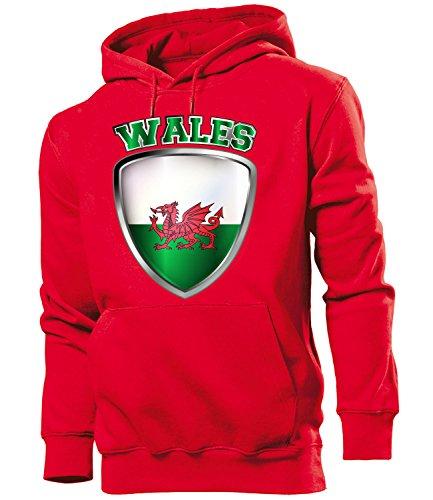 Golebros Wales Fussball Fanhoodie Fan Männer Herren Hoodie Pulli Kapuzen Pullover Fanartikel Trikot Look Geschenke Flagge zubehör Fahne fußball Fanartikel Oberteil Flag Artikel Outfit