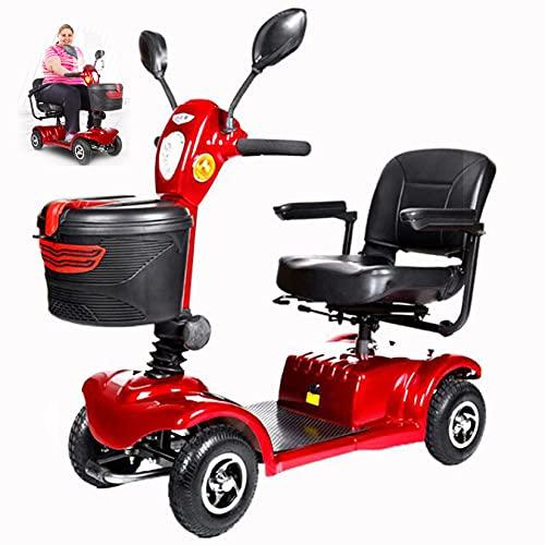 YX-ZD Scooters De Movilidad De 4 Ruedas con Parabrisas, Sillas De Ruedas Eléctricas Ligeras, Scooter De Viaje Plegable Portátil, para Adultos Mayores Discapacitados,20Ah Double Lithium Battery